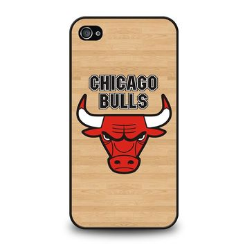 CHICAGO BULLS LOGO WOODEN iPhone 4 / 4S Case Cover