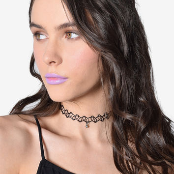 Tattoo Jewel Choker