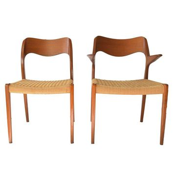 Pre-owned Vintage Moller #71 & #55 Dining Chairs - Set Of 6