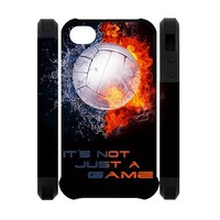Volleyball Printed Back Case Cover Fashion Shell Protector for iPhone 4 4s