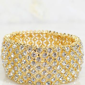 All Diamond Day Beaded Bracelet Gold