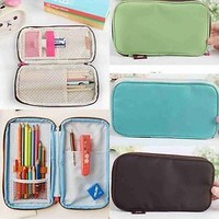 1Pc Colored Pencil Stationery Pouch Womens Makeup Storage Bag Organizer Case NEW