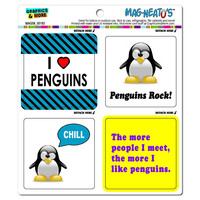 Penguins Funny Love MAG-NEATO'S TM Car-Refrigerator Magnet Set