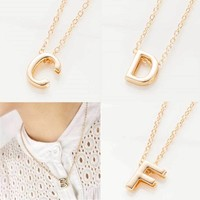 TOMTOSH 2016 new hot sale fashion Women's Metal Alloy DIY Letter Name Initial Link Chain Charm Pendant Necklace N125