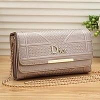 DIOR Women Fashion Shopping Leather Shoulder Bag Satchel Crossbody