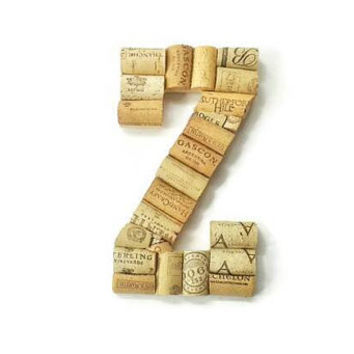 Wine cork letter Z | monogram letter | wine cork crafts