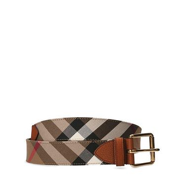BURBERRY MARK40MBGBH4045393 men Belts Classic Check NEW made in Italy OUTLET