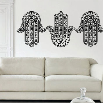 3 Hamsa Hands Version 2 SPECIAL DEAL Decal Sticker Wall Vinyl