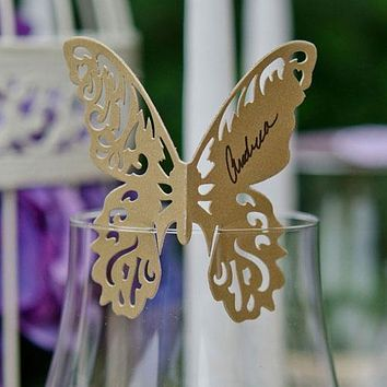 20 FREE WHITE large Perfect Hand punched Butterfly butterflies Paper 3D art 100