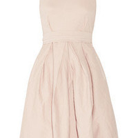 Preen Line | Cameron stretch cotton-drill and chiffon dress | NET-A-PORTER.COM
