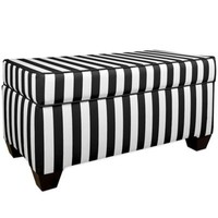 Skyline Furniture Storage Bench in Canopy Black/White