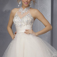 High Neck Short Dress by Mori Lee