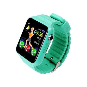 V7K GPS Bluetooth Smart Watch for Kids Boy Girl Safe Anti-Lost Monitor Christmas Gift (Black)