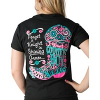 Girlie Girl Originals Black I Want A Country Boy Short Sleeves Tee