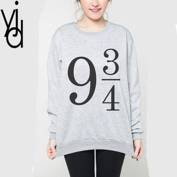 Harajuku Kpop Long - Sleeved Oversized Sweatshirt Red Velvet Hoody Platform 9 3/4 Female Hoodie Women Harry Potter Sweet