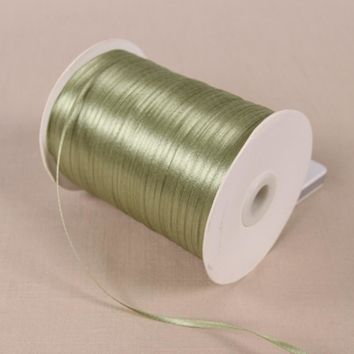 Silk Satin Ribbon 20Y Wedding Party Decoration Invitation Card Gift Wrapping Scrapbooking 55 Olive Green