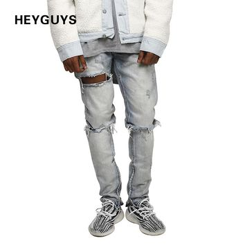 New design hole Destroy Wash jeans men high quality jeans luxury man casual street straight  hip hop
