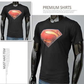 Superman Cotton short-sleeved T-shirt = 1946703748