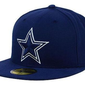 Dallas Cowboys New Era 59FIFTY NFL On Field Sideline Navy Fitted Cap 5950 Hat