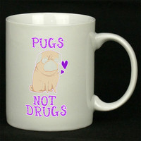 Pugs Not Drugs Funny For Ceramic Mugs Coffee *