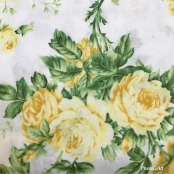 Designer 100% Cotton Woven Fabric French Floral Print By The Yard