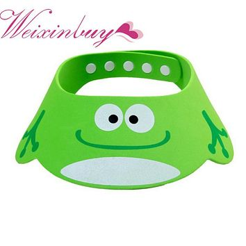 WEIXINBUY Baby Hat Toddler Kids Wash Hair Shield Direct Visor Caps Shampoo Bathing Shower Cap For Children Baby Care