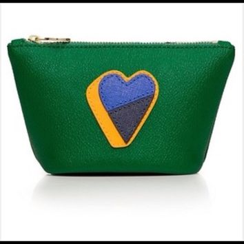 Tory Burch Kerrington Heart Trapeze Cosmetic Case