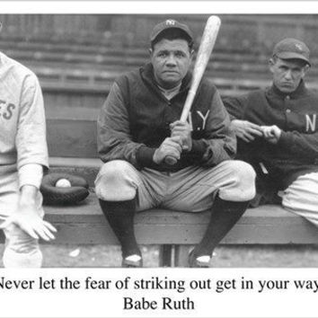 BABE RUTH BASEBALL QUOTE sports pic poster RARE HOT NEW one-of-a-kind 24X36