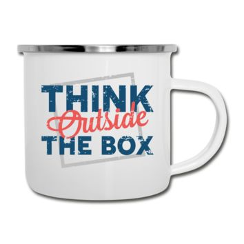 Think Outside the Box Camper Mug