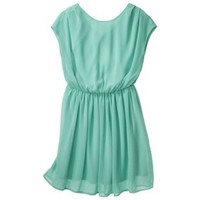 Xhilaration® Junior's Open Back Chiffon Dress - Sea Green