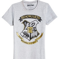 Harry Potter Hogwarts Crest Tee - Grey