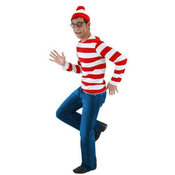 Men's Costume: Where's Waldo Kit | XL