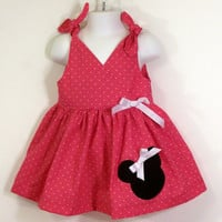 Girls Jumper Twirl Dress--Minnie Mouse--by togs4tots