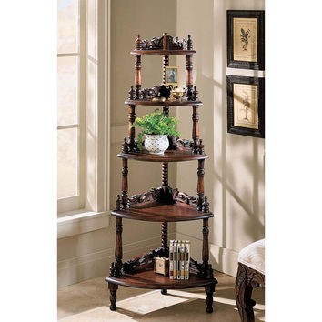 Park Avenue Collection Edwardian Corner 5 Tiered Shelf