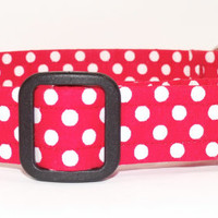 Red White Polka Dot Dog Collar