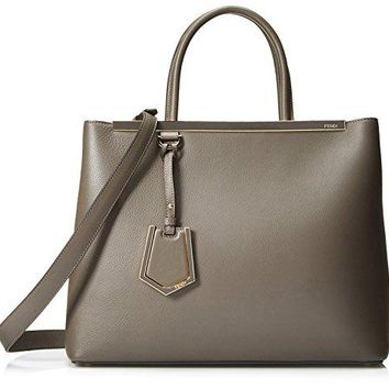Fendi Women's 2Jours Tote, Carbone