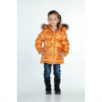 Livobu Kids Yellow Down Coat With Fur Collar,Livobu.com - Like it,Love it,Buy it!