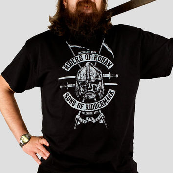 Riders of Rohan - Tolkien / Lord of the Rings inspired Men's t-shirt, screen printed by hand