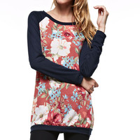 Smell The Roses Sweatshirt - Navy (Ships 10/17)