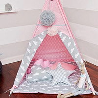 New design children game room kids play house Indian children tents children play tent Kids Teepee with mat