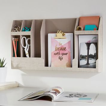 No Nails Fabric Wall Organizer, Solid