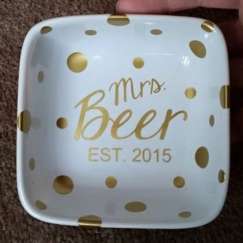 "Personalized Ring Dish for all you sparkly things 4""x4""x1.25"""