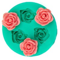 3D Food-grade Silicone Mold Rose Flower Shapes Cake Chocolate Candy Jello Silicone Decorating Moulds Tools