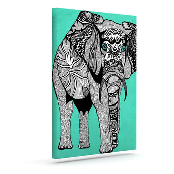 "Pom Graphic Design ""Elephant of Namibia Color"" Outdoor Canvas Wall Art"