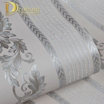 European Style Damask Wallpaper Striped PVC Wallpaper For Bedroom Living Room Sofa TV Luxury Walls Decor Vinyl Wall Paper Rolls