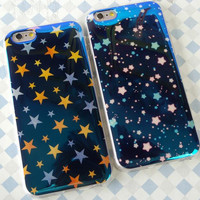 Twinkling star mobile phone case for iphone 5 5s SE 6 6s 6 plus 6s plus + Nice gift box 71501