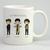 Supernatural Cast Cartoon Mug, Tea Mug, Coffee Mug
