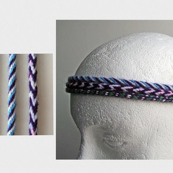Hair Braids Or Head Bands, Set of 3 Purple Dreads, Head Bands,  Hippie Festival Extensions, Atebas Hair Falls, Acrylic Tribal Kumihimo