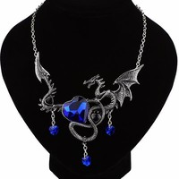 Sapphire Dragon Necklace