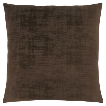 "Pillow - 18""X 18"" / Dark Brown Brushed Velvet / 1Pc"
